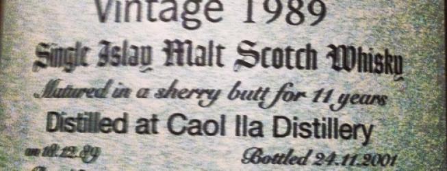 Alkohol Wieczoru #139: Caol Ila 11yo, IB (Signatory), vintage 1989-2001, butt no. 5860, bottle 311/396