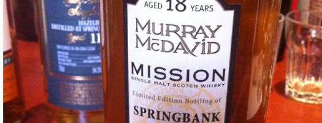 Alkohol wieczoru #176: Murray McDavid – Springbank 1991, Mission Gold Series, Bourbon, bottled at Bruichladdich, 285 bottles