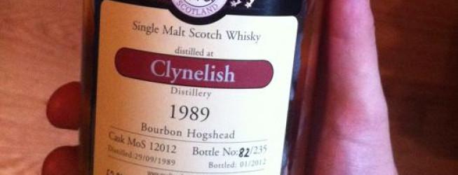 Alkohol wieczoru #182: Clynelish 1989 bourbon, malts of Sctoland, 22yo , 53,2%