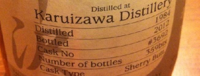 Alkohol wieczoru #167: Karuizawa 28 yo,1984-2012, OB – Number ONE Drinks Company