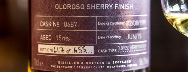 Alkohol wieczoru #309: BenRiach 1999 15 yo beczka 8687
