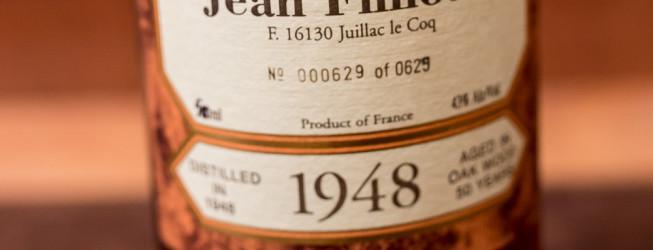 Bardzo stary koniak Jean Fillioux vintage 1948 Grande Champagne Cognac