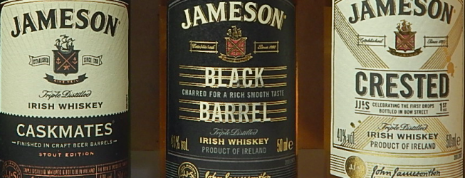 Jameson Caskmates, Black Barrel i Crested – jak smakują?