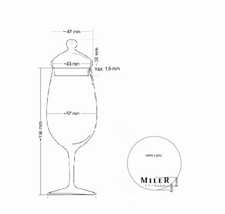 kieliszek w kształcie kieliszka do porto stworzony do picia whisky