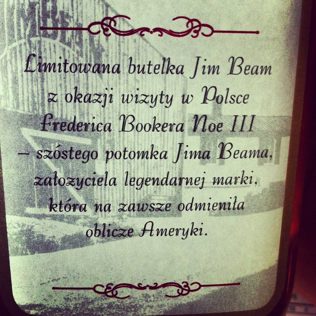 etykieta whisky Jim Beam