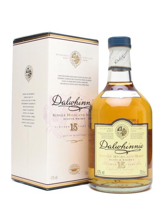 Dalwhinnie 15 yo single malt scotch whisky