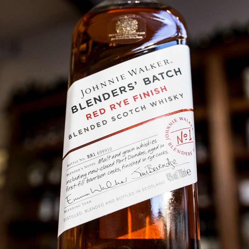 Johnnie Walker Red Rye Finish label