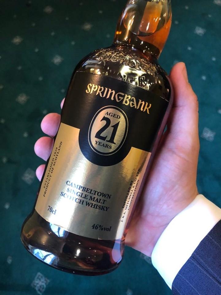 Springbank whisky 21yo